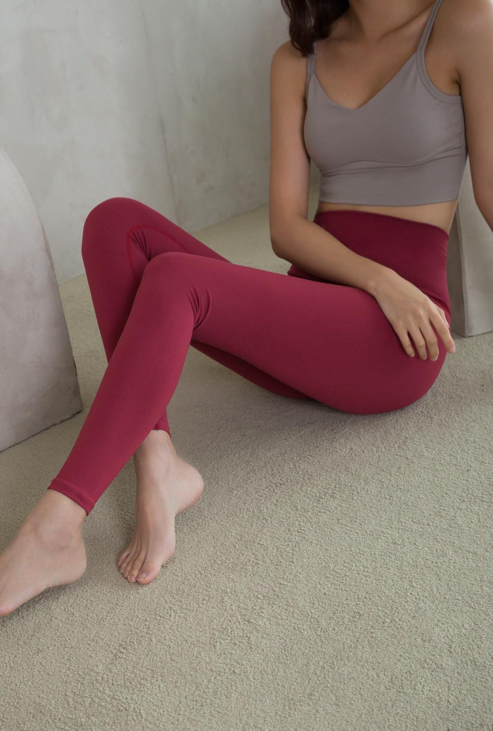 Sportswear Leggings A #02-Burgundy #02