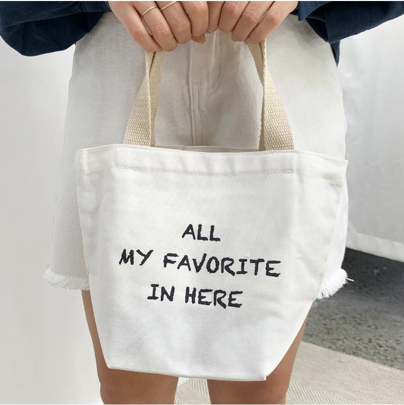Mini lettering eco bag