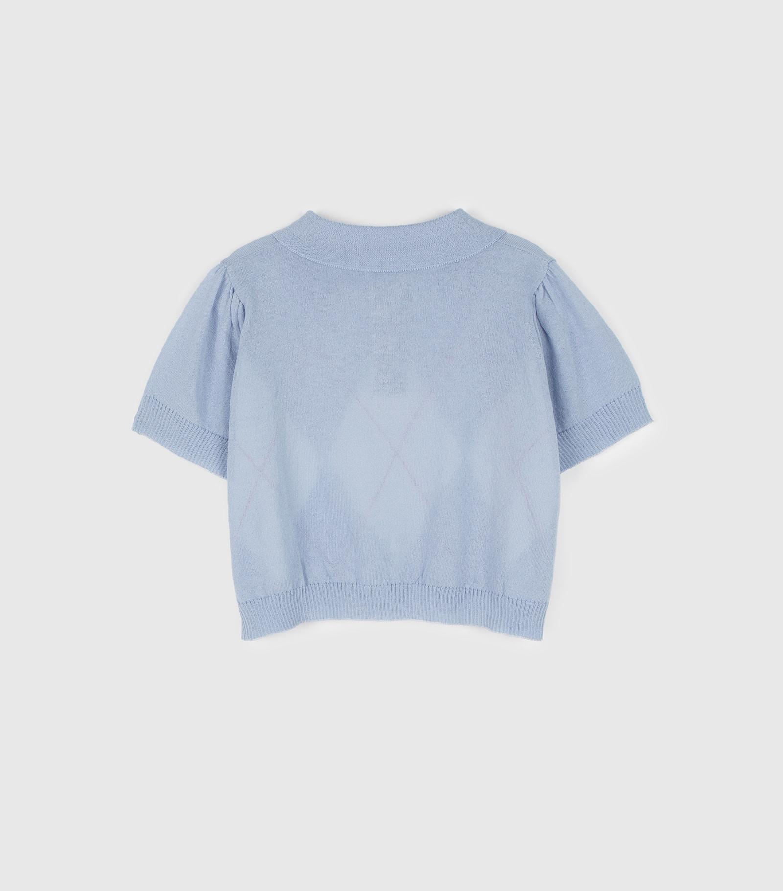 Vivid argyle collar neck knit