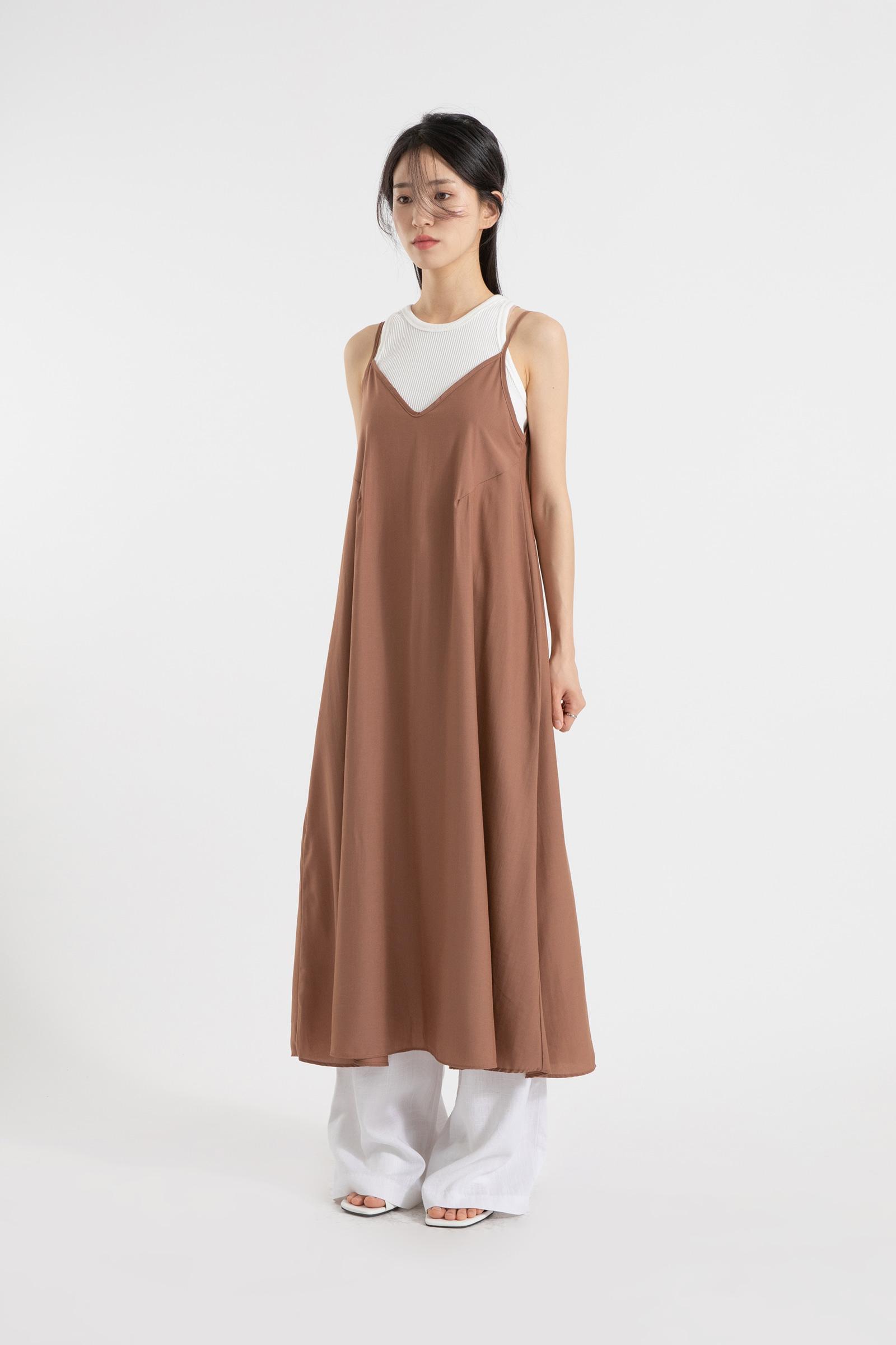 Basic slip layered maxi dress