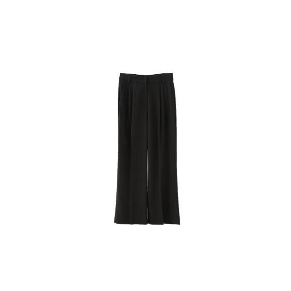 soft color wide slacks