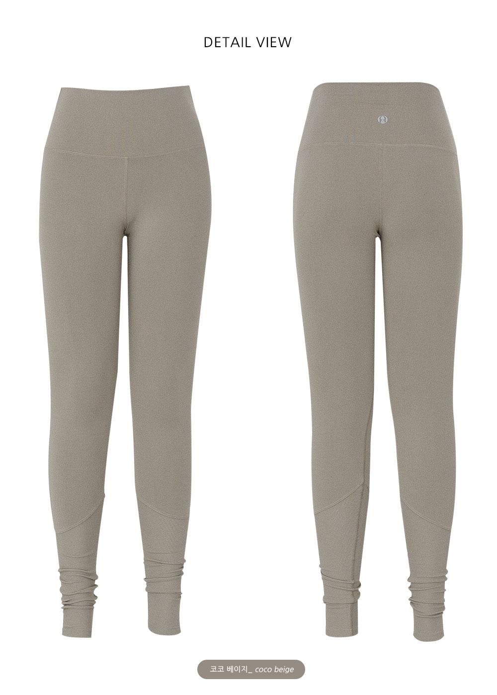 Sportswear Leggings D #02-Coco Beige #02