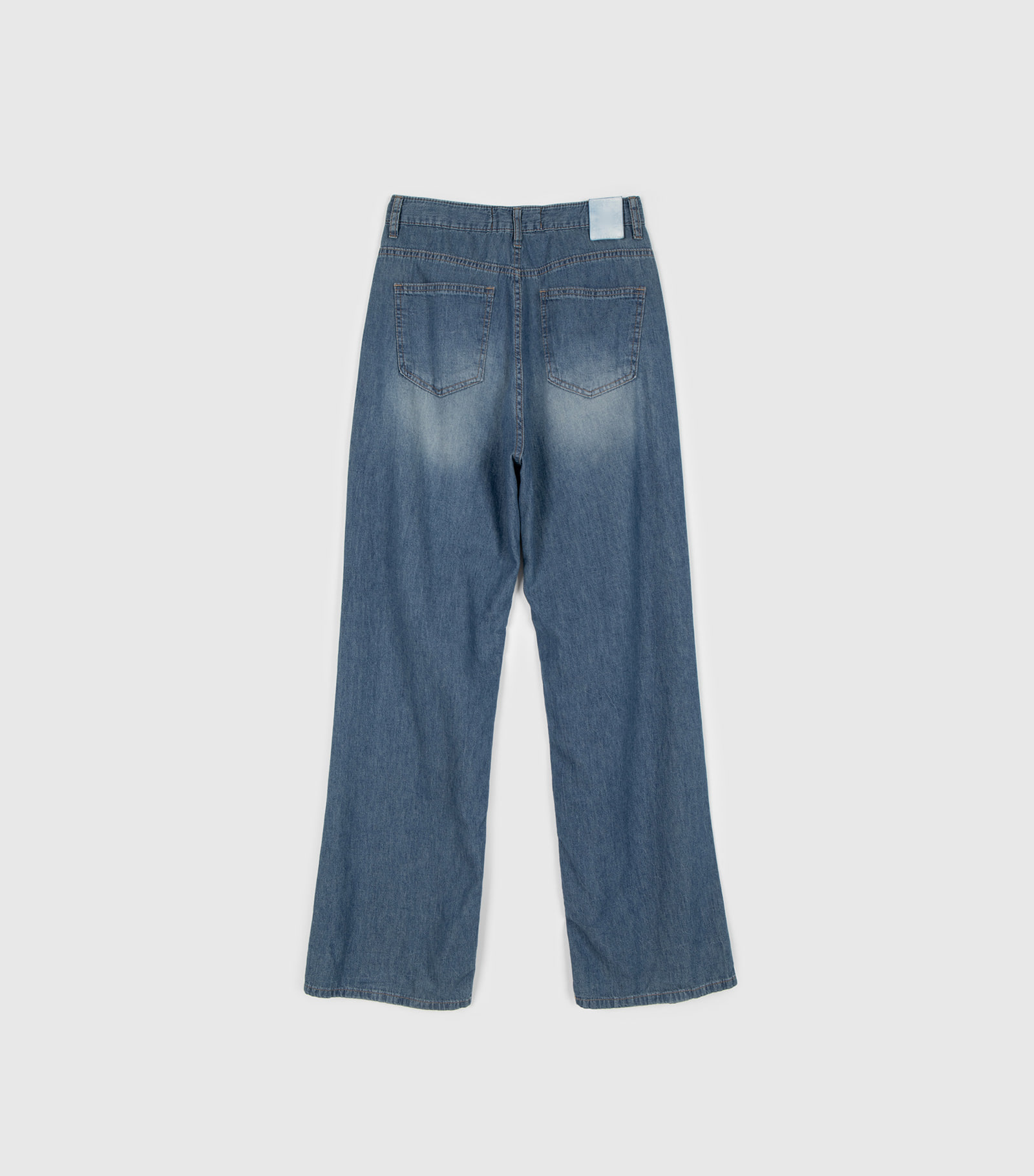Western high-rise wide jeans