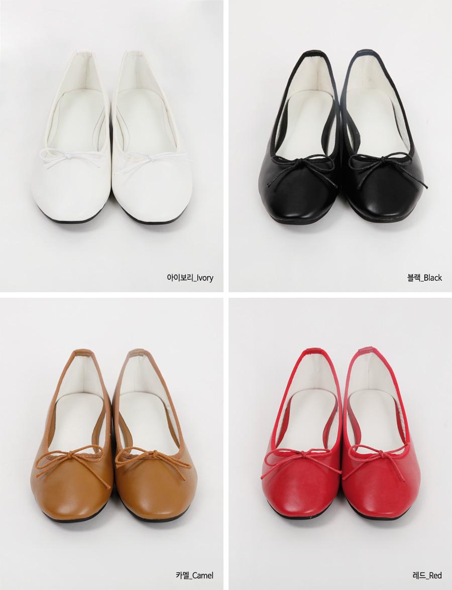 Simple ribbon plat shoes_H