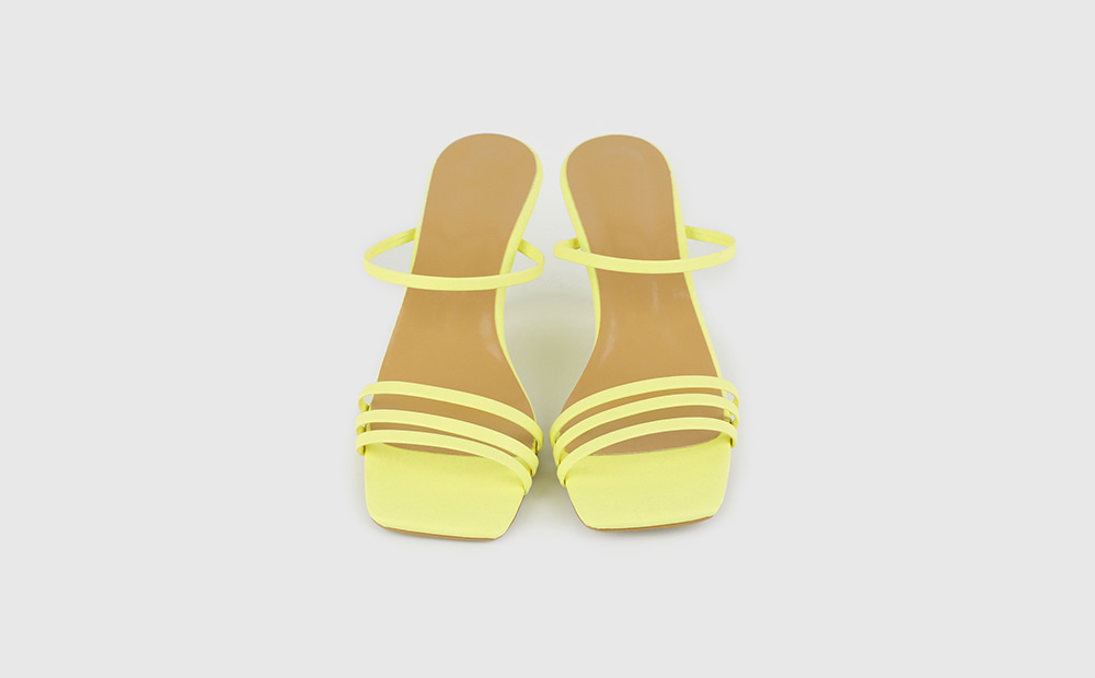 Beast square strap high heel sandals