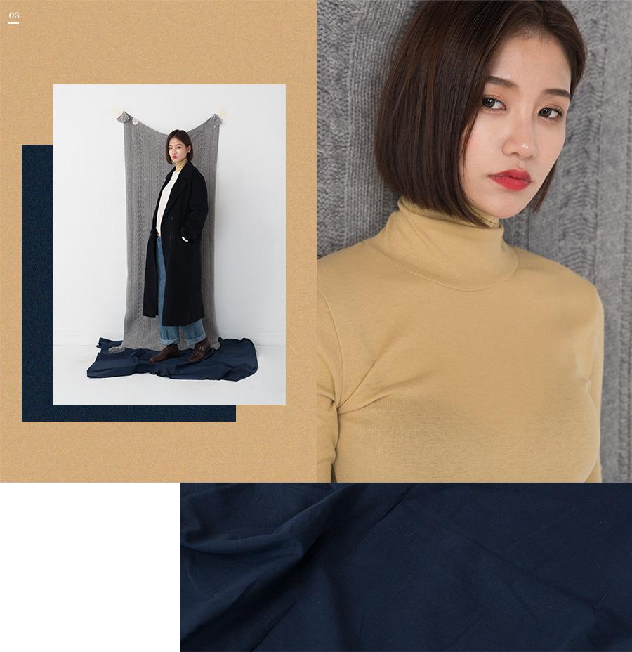 classy double button coat