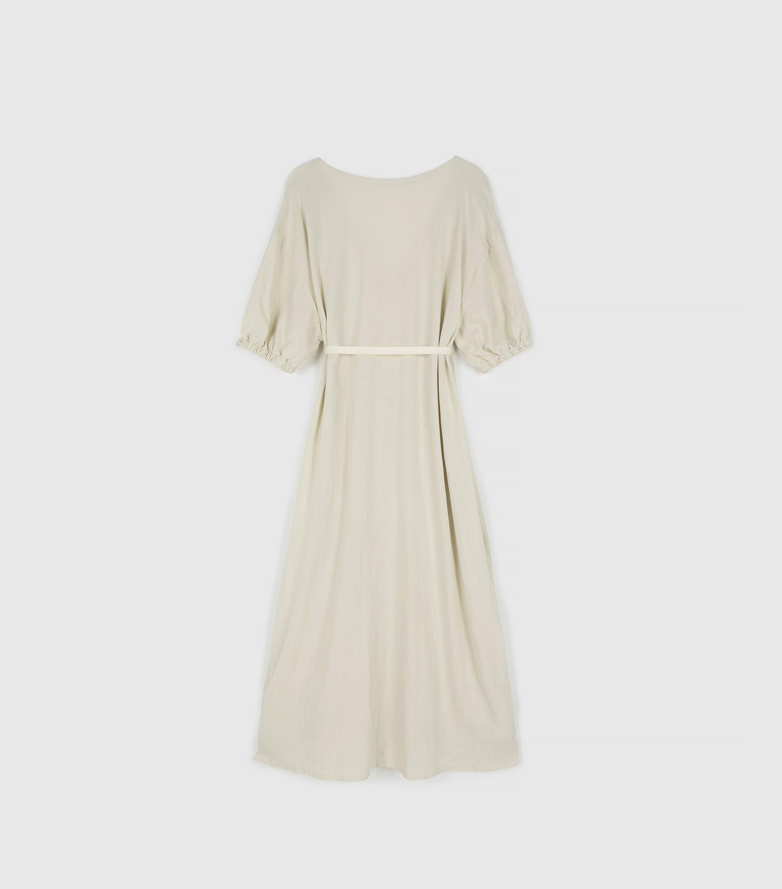 Monet linen wrap maxi dress
