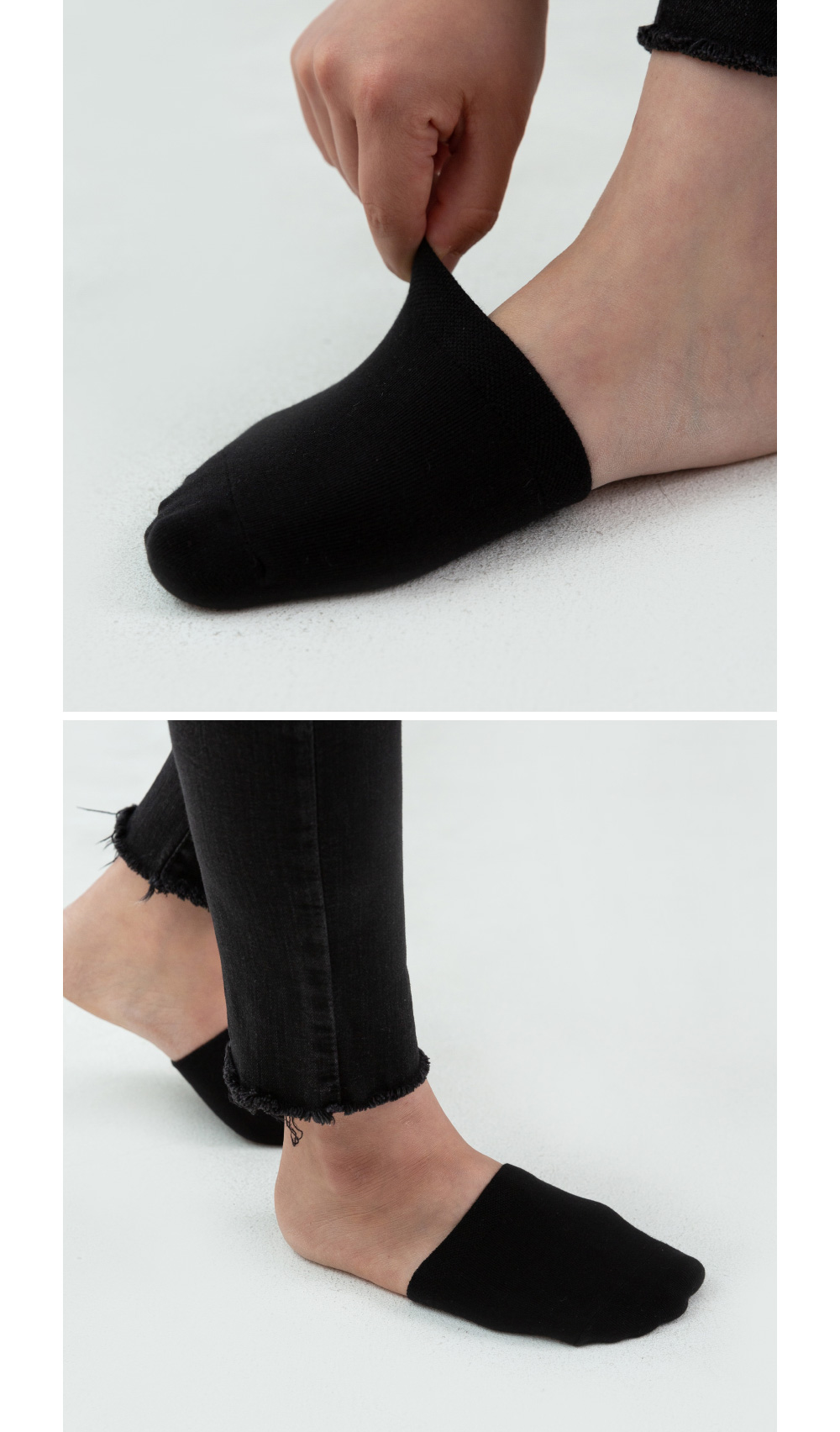 simple half fake socks