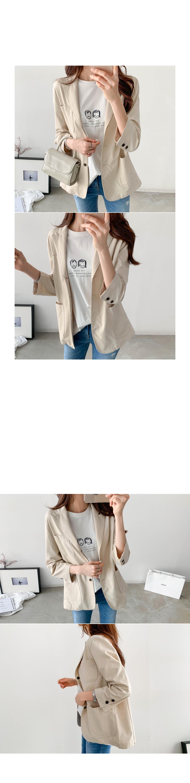 Basic Three Button Cotton Jacket #65605