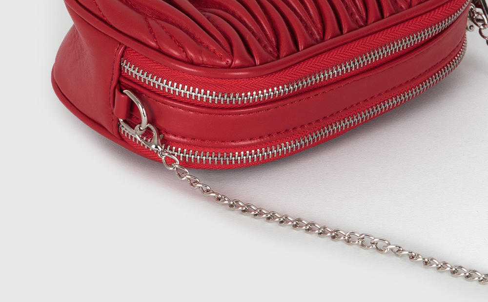 Wrinkle round two-way belt bag