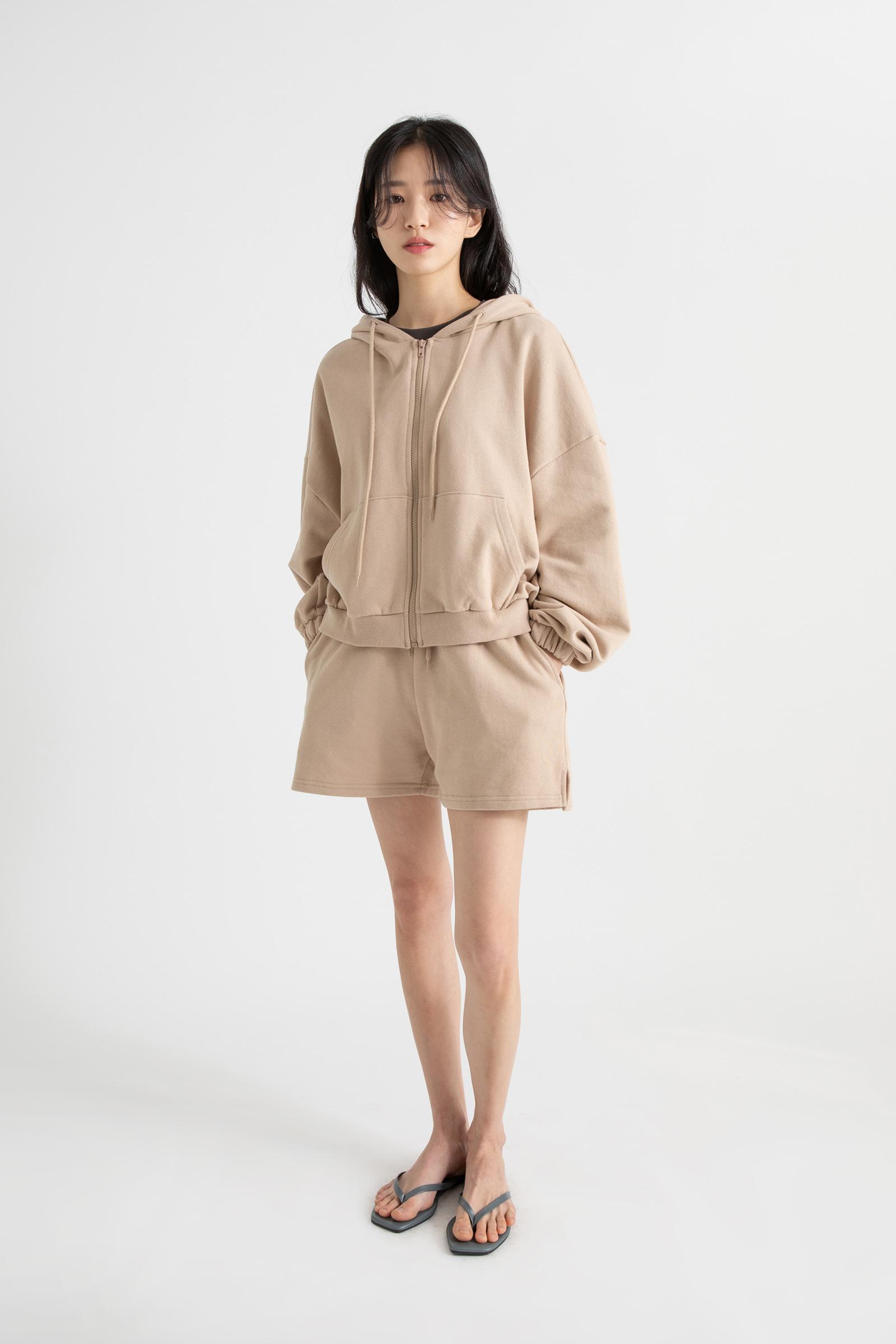 Cozy hooded zip-up sweatshirt
