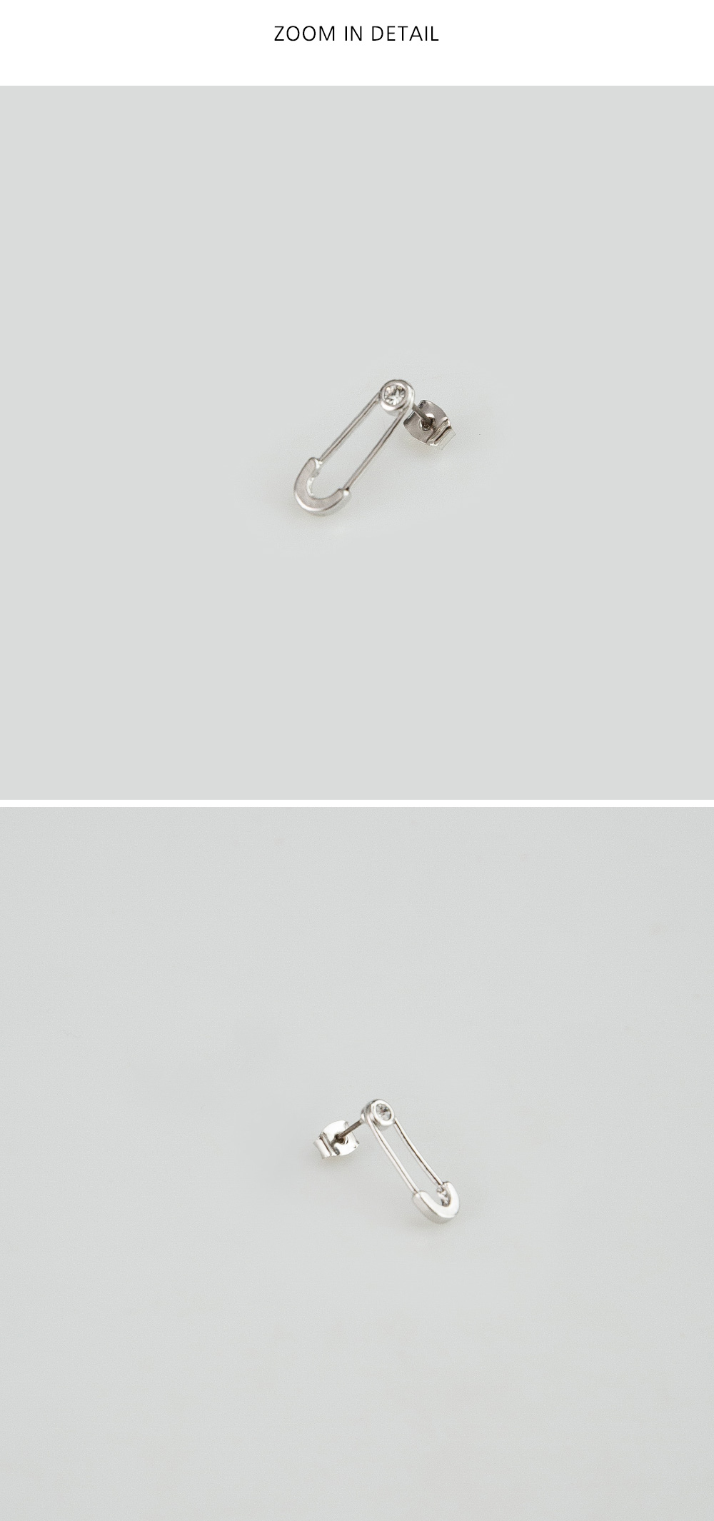 mini clip shape earring