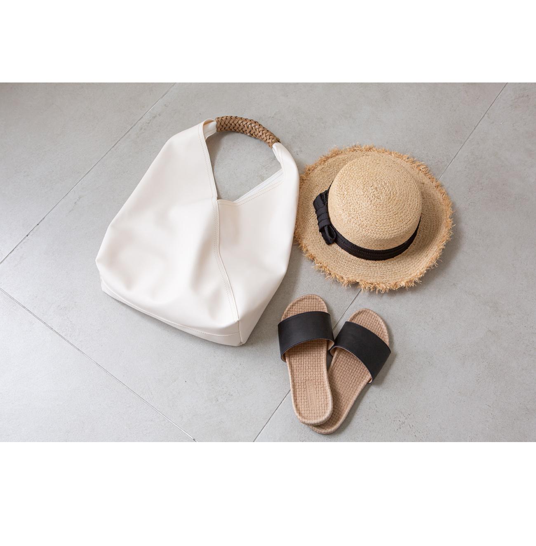 Mesh handle shoulder tote bag #86229