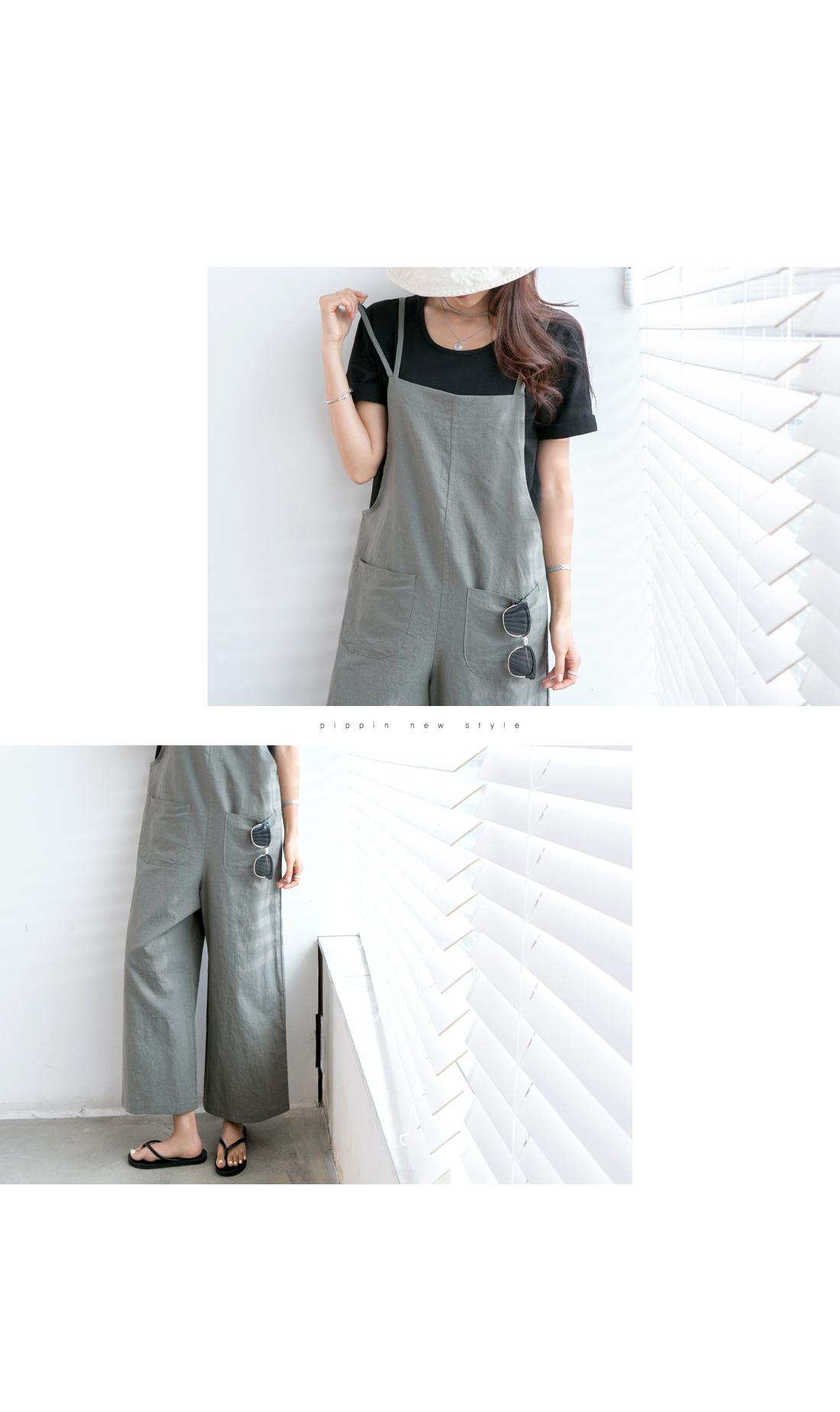 Double Strap Linen Jumpsuit #73756