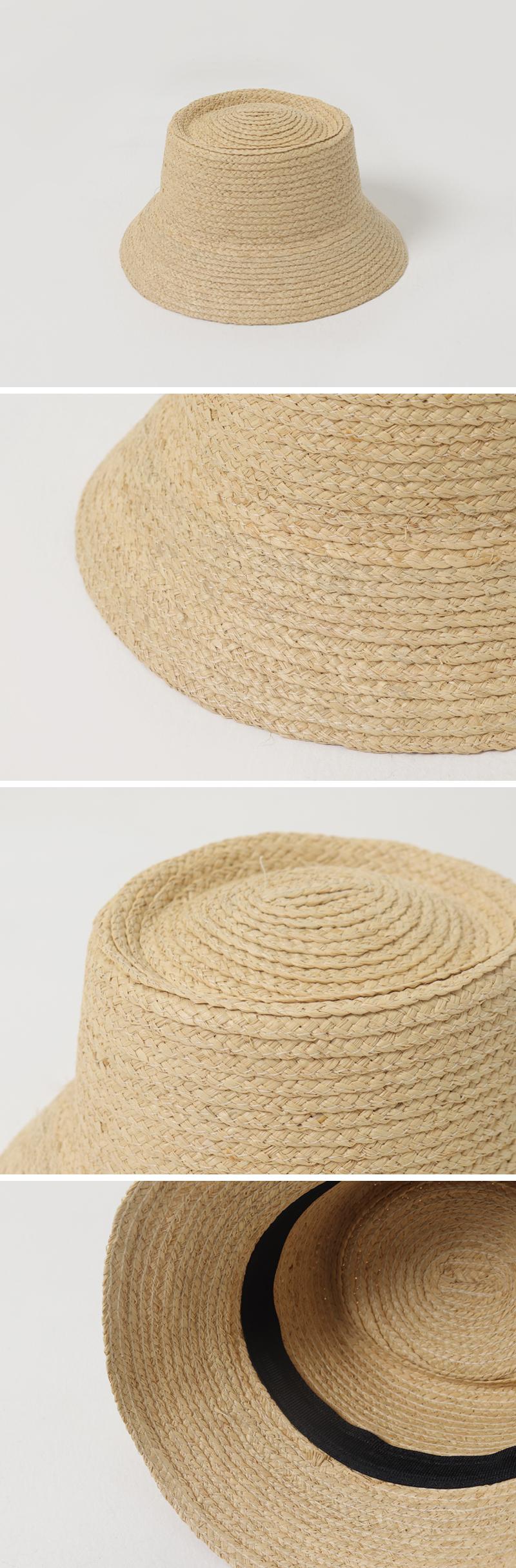 Nature raffia bucket hat