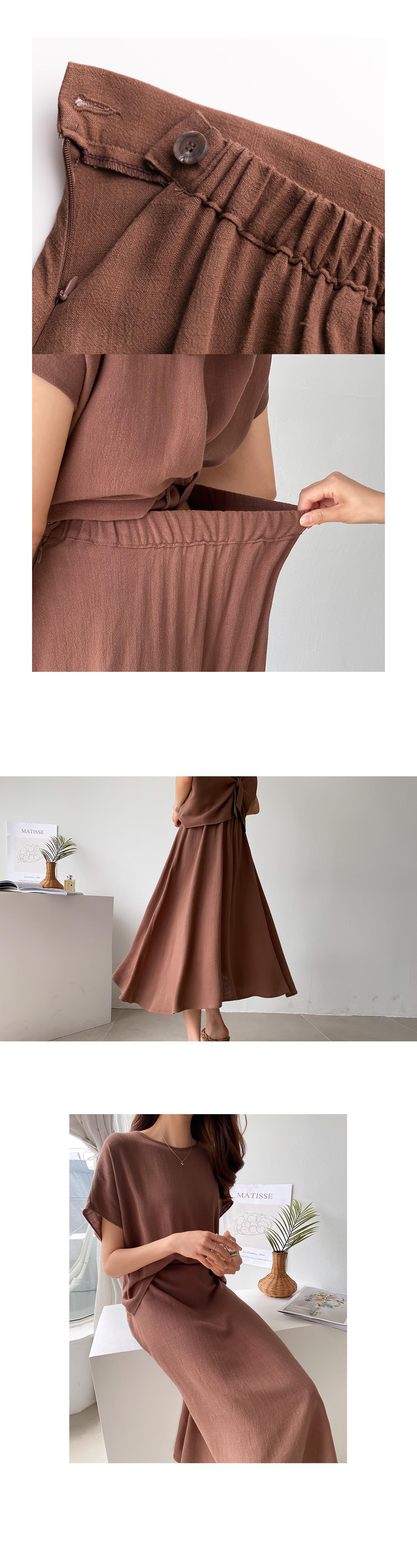 Summer linen twist two piece set #92552