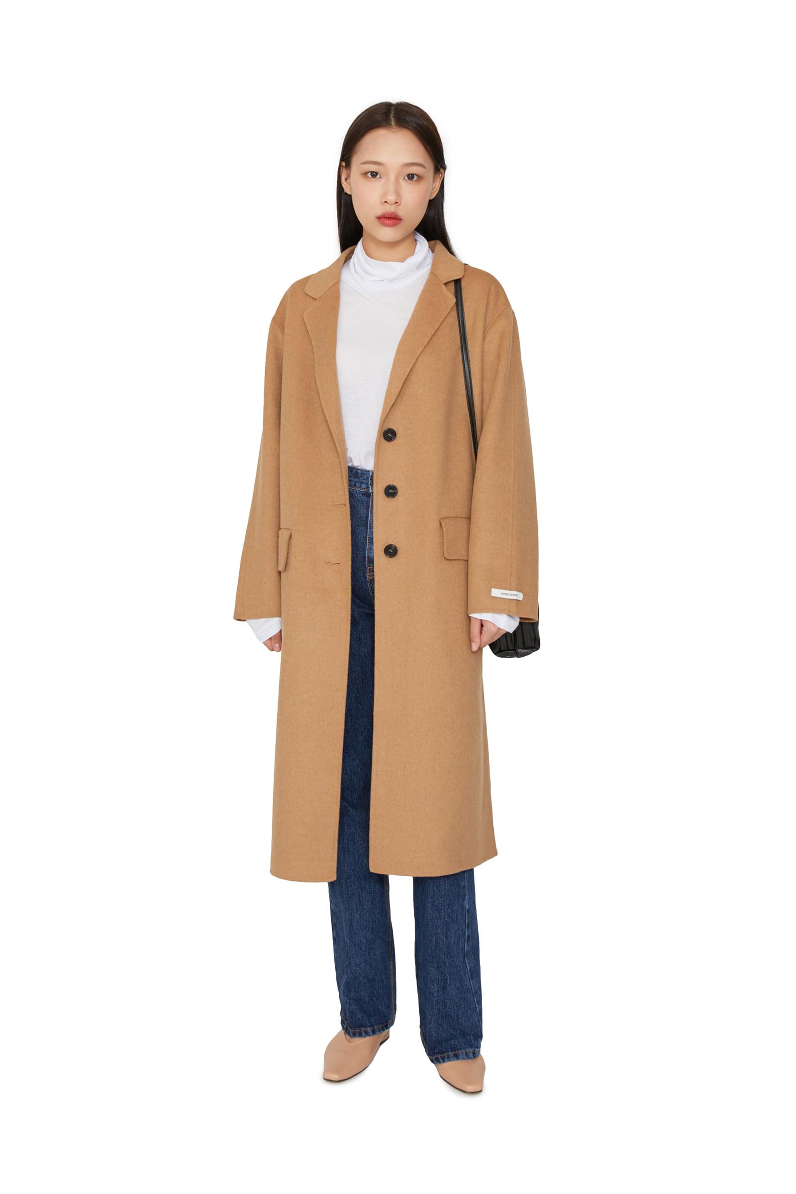 Planning wool single handmade coat