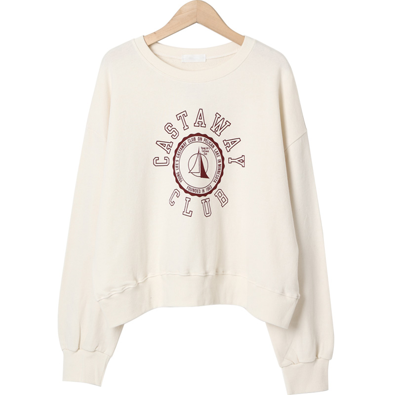 Club lettering print sweat shirt