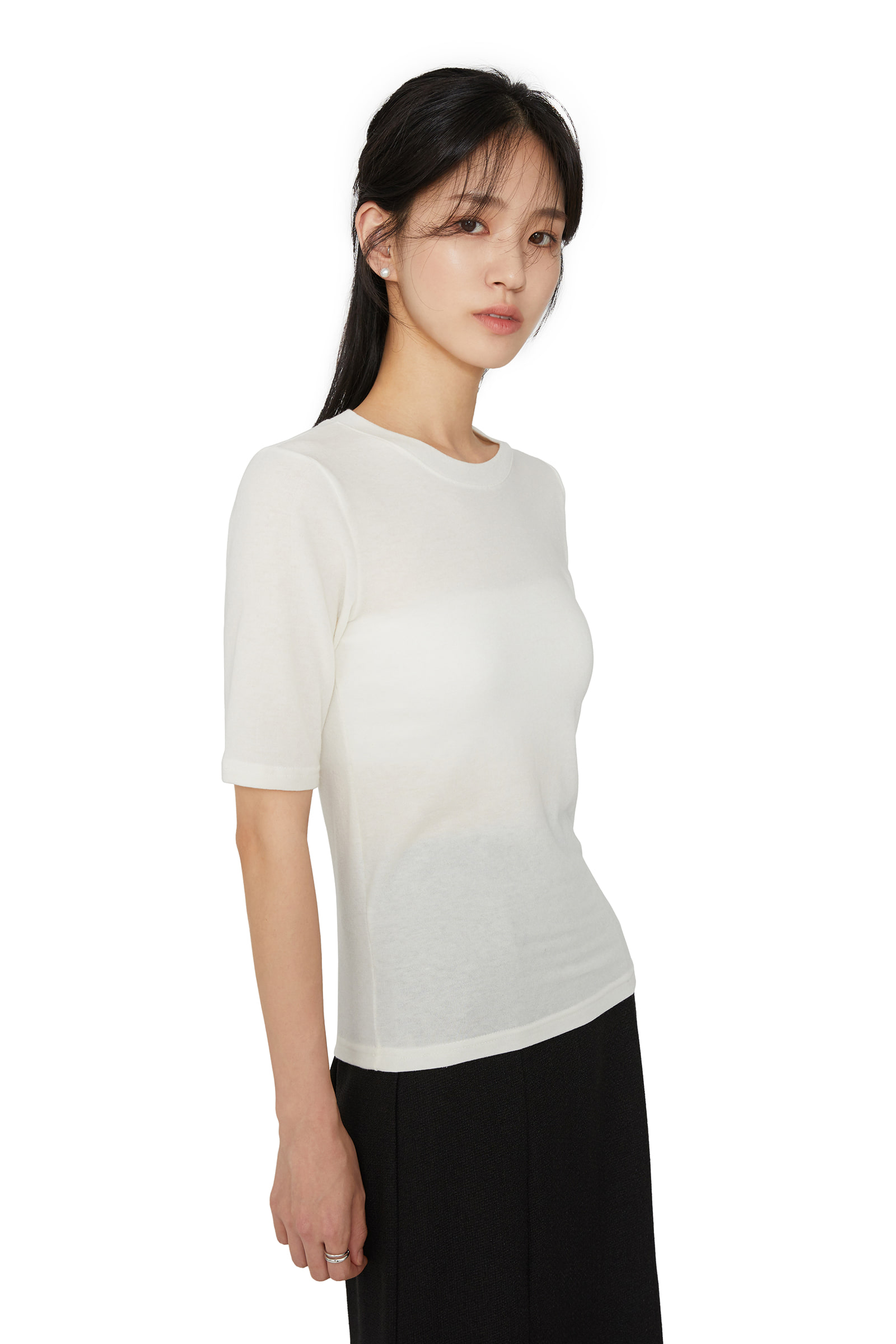 Monday wool short sleeve T-shirt