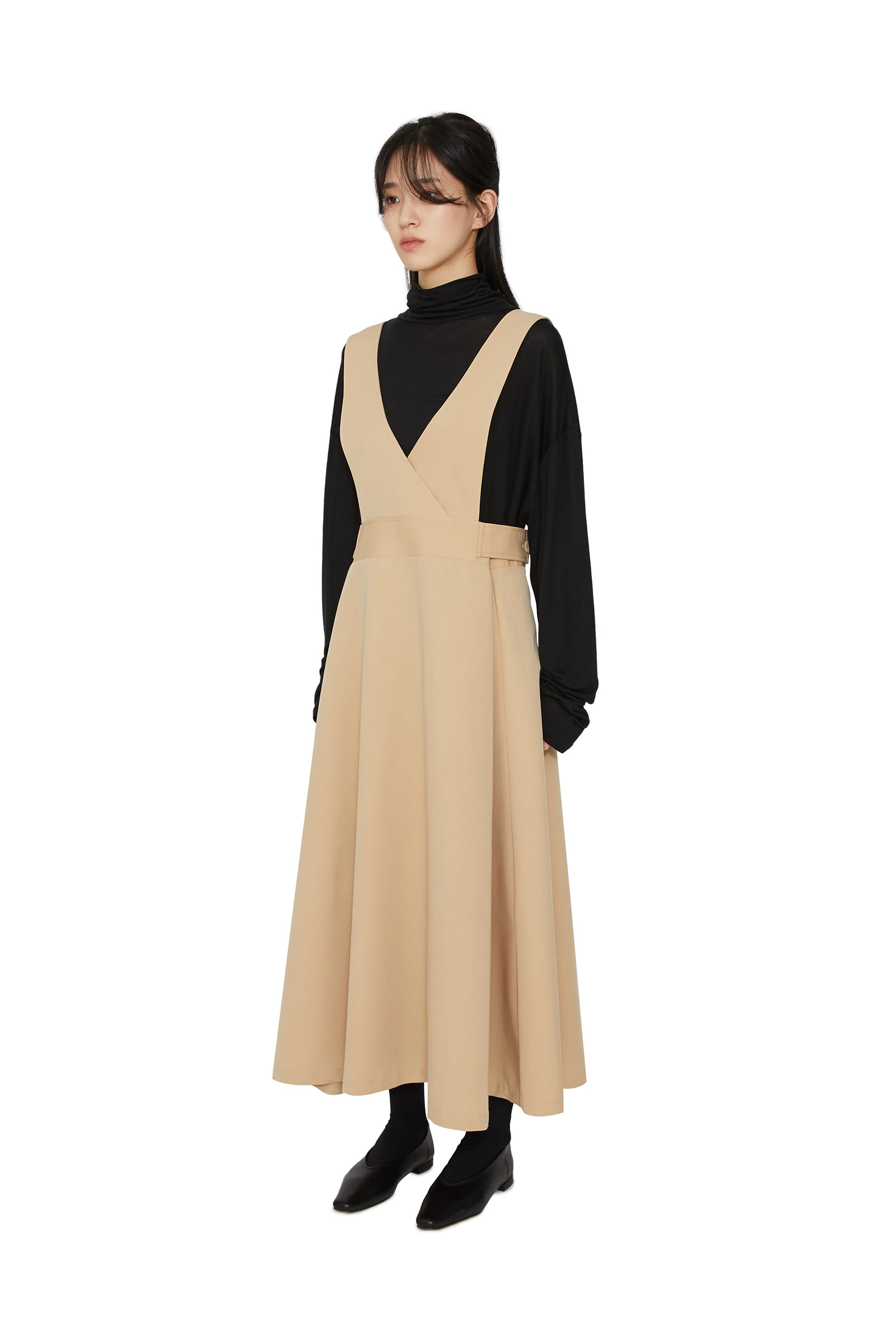 Jane layered v-neck maxi dress