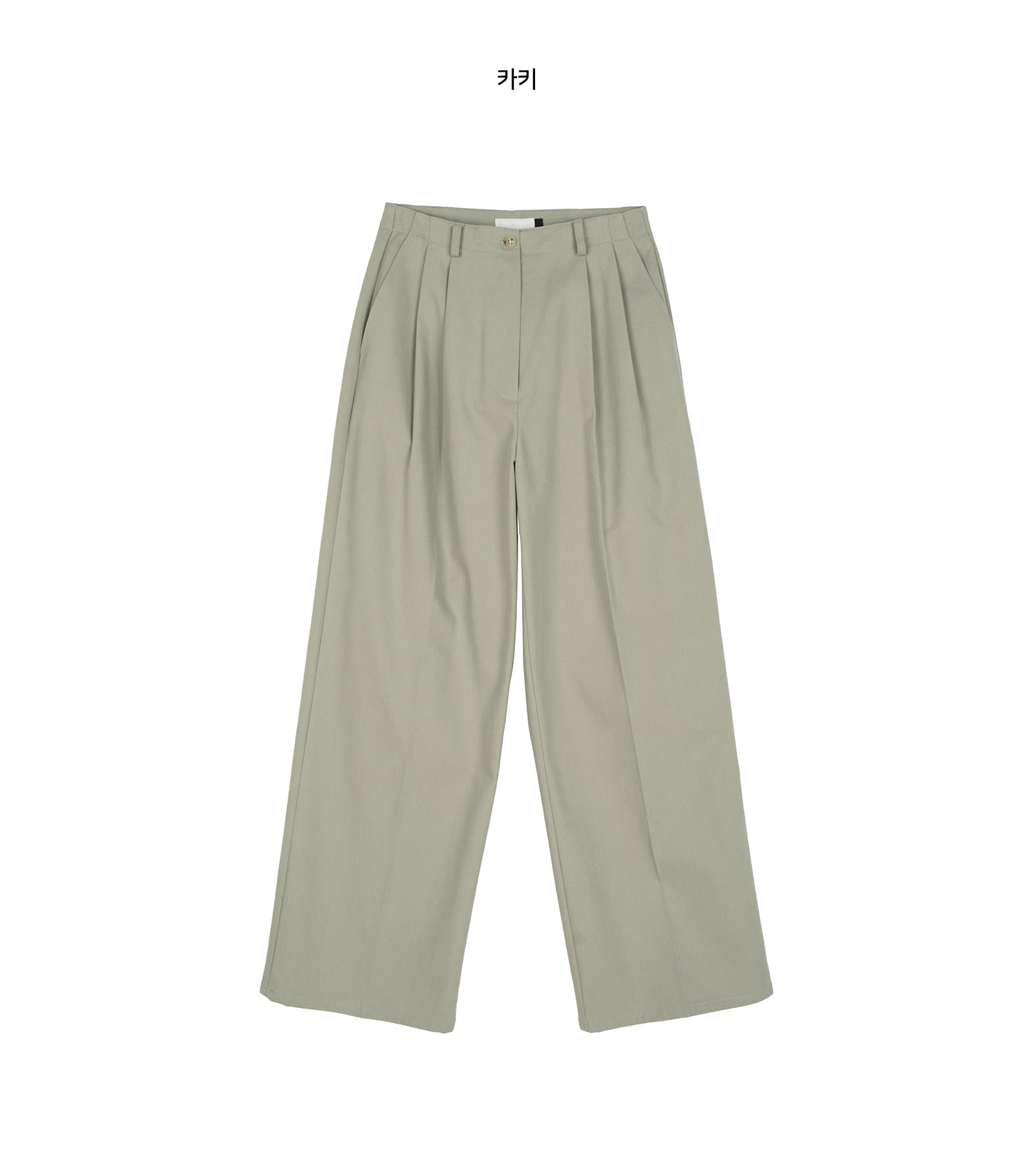 Moss Simple Pintuck Cotton Slacks