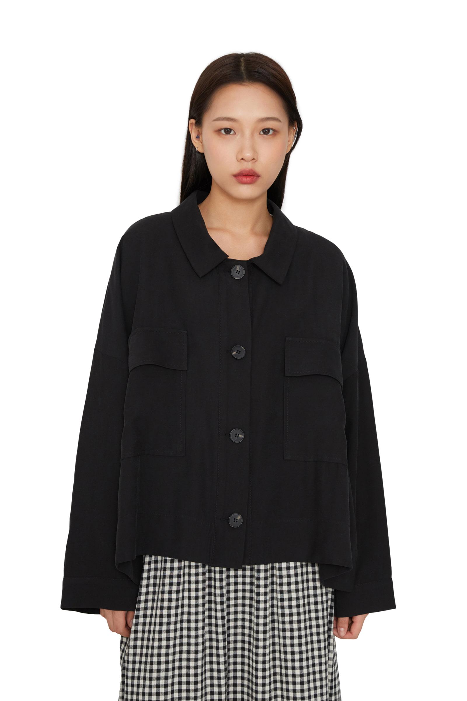 Lazy flap pocket casual jacket