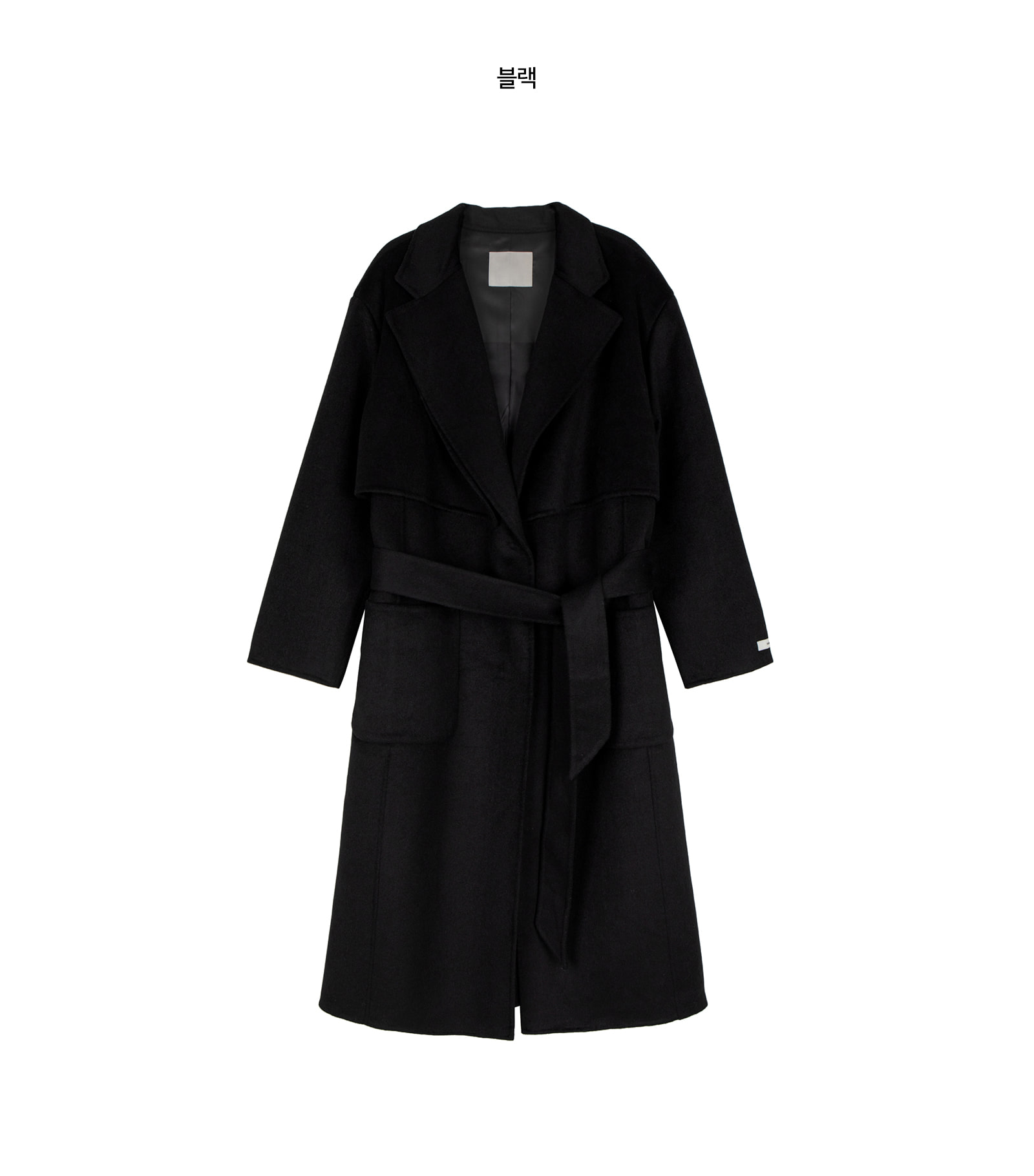 Planning Wool Double Collar Handmade Coat