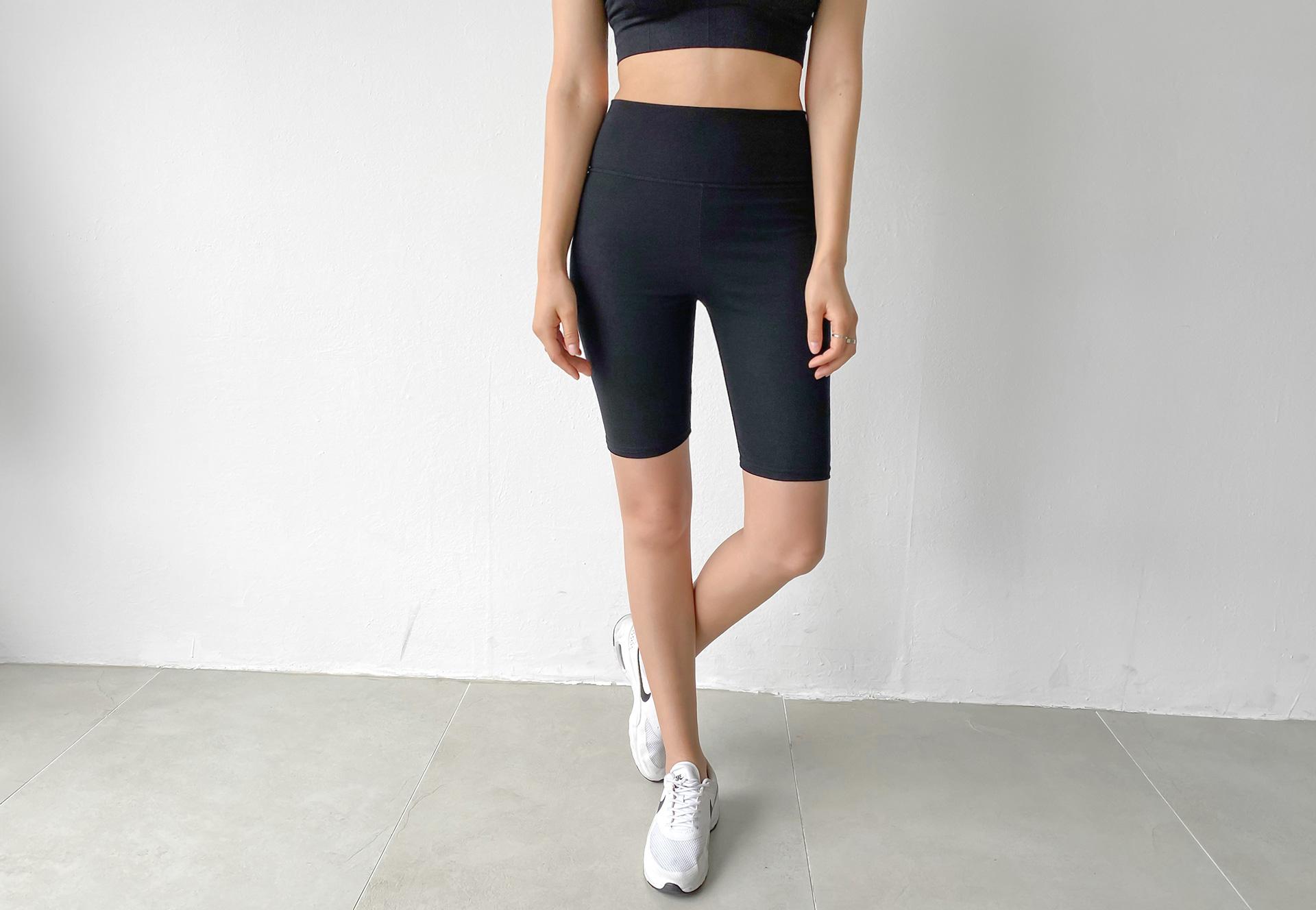 Soft tension plain 5 part leggings #86252