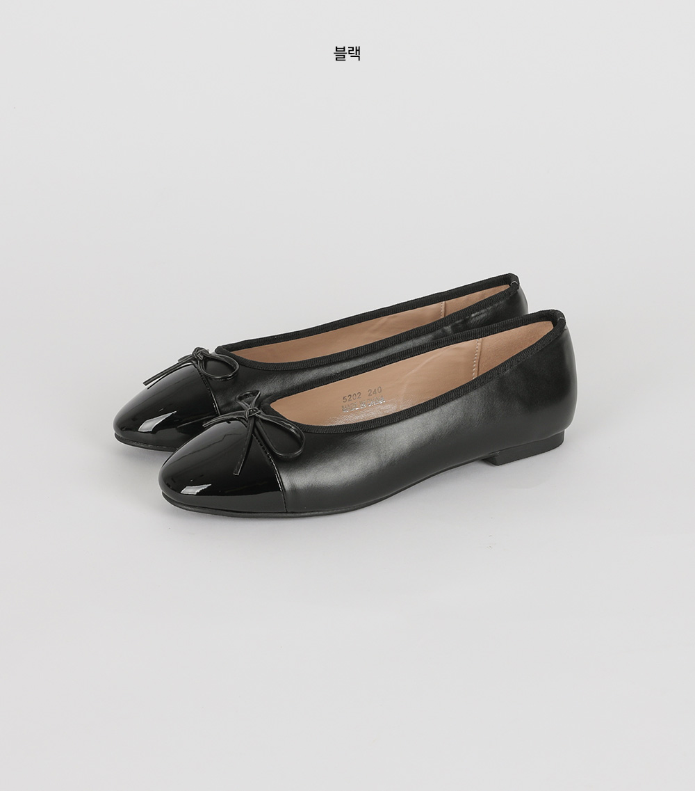 Kate enamel point flat shoes