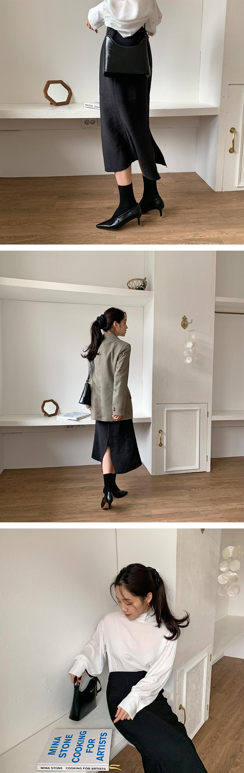 Calm herringbone button jacket_U