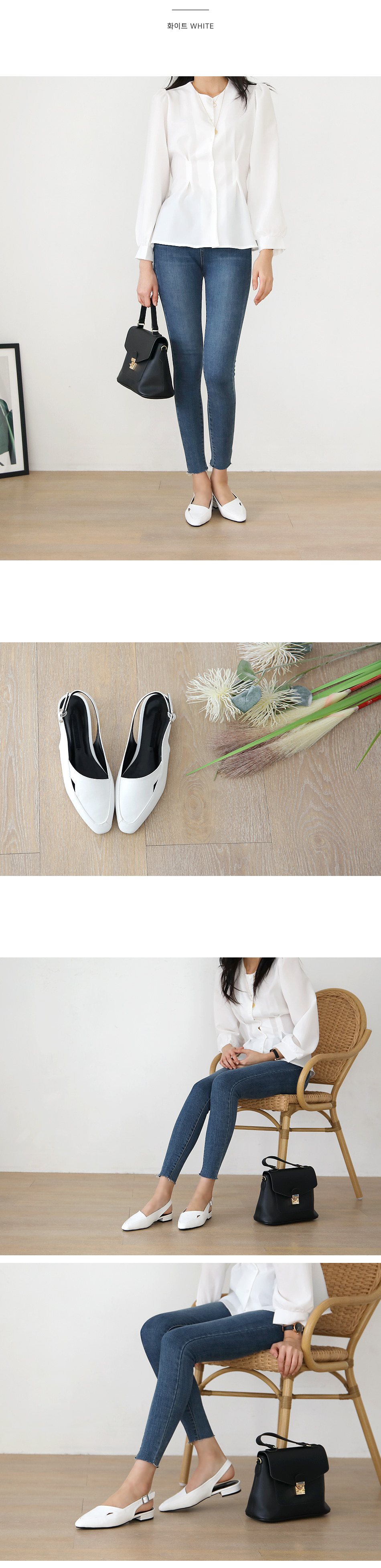 Taylor Slingback Flat Shoes 2cm
