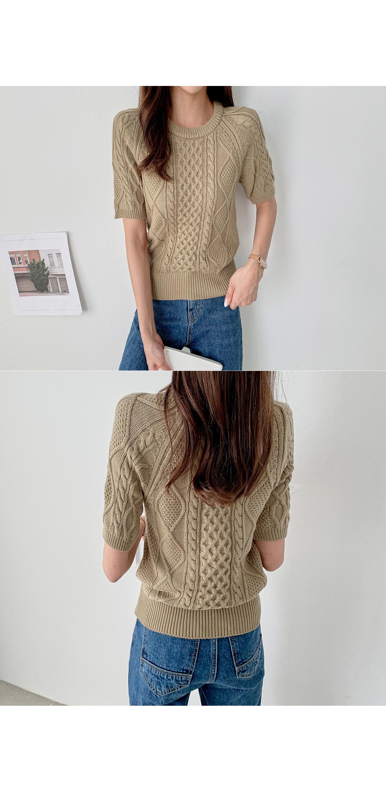 Short sleeve knit #107495