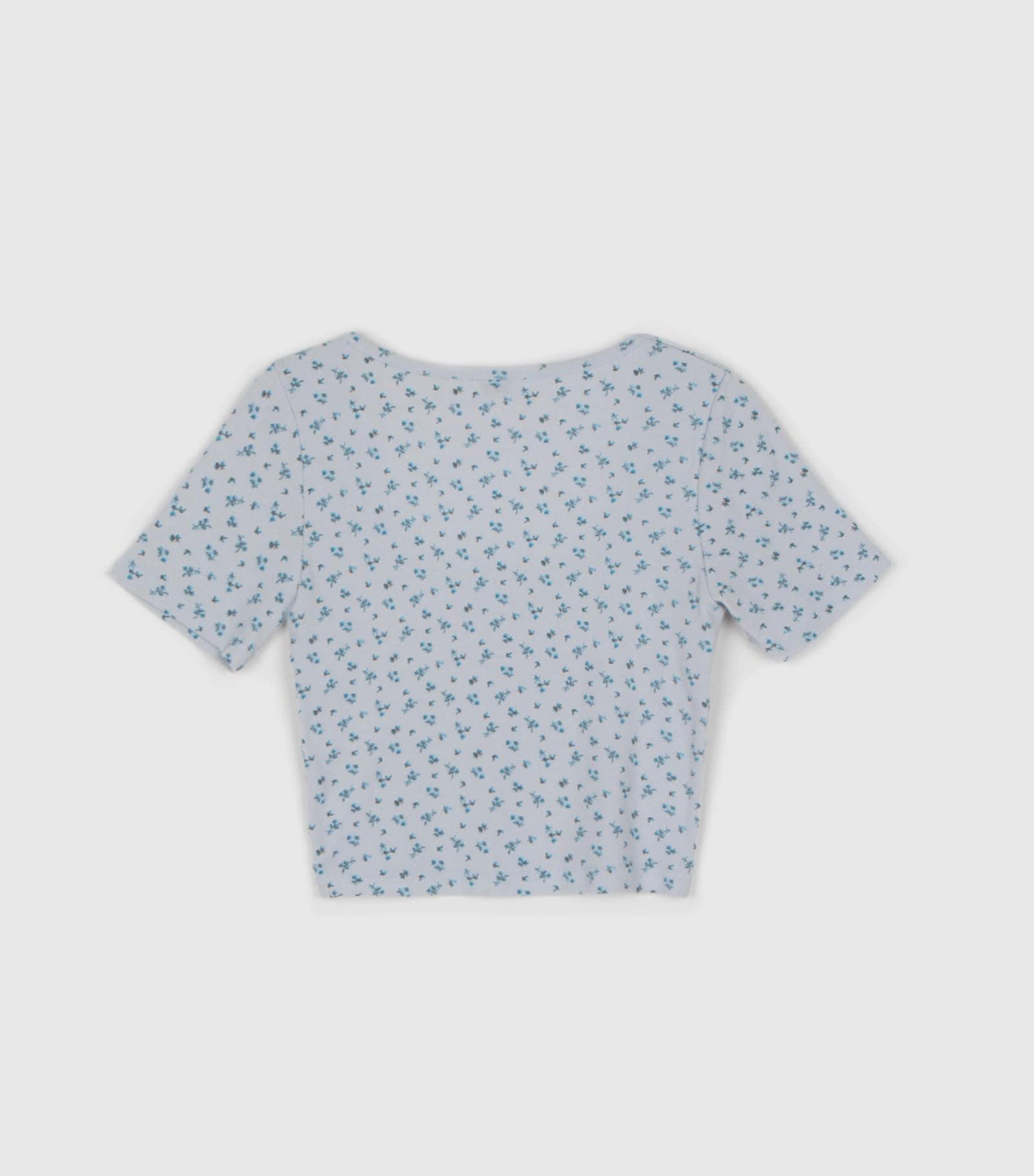 Petit Floral Crop Square Neck T-Shirt