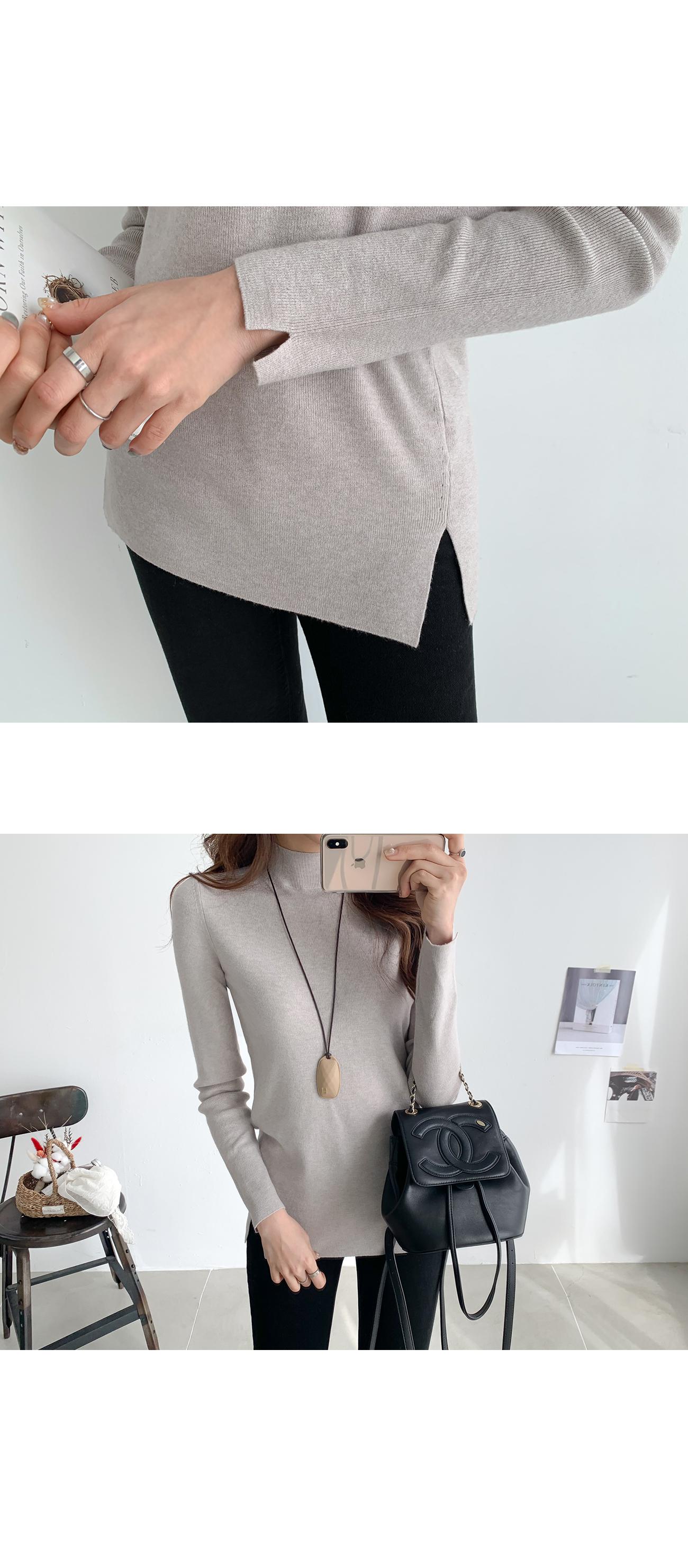Basic Slim Neck Polar Knit #107692