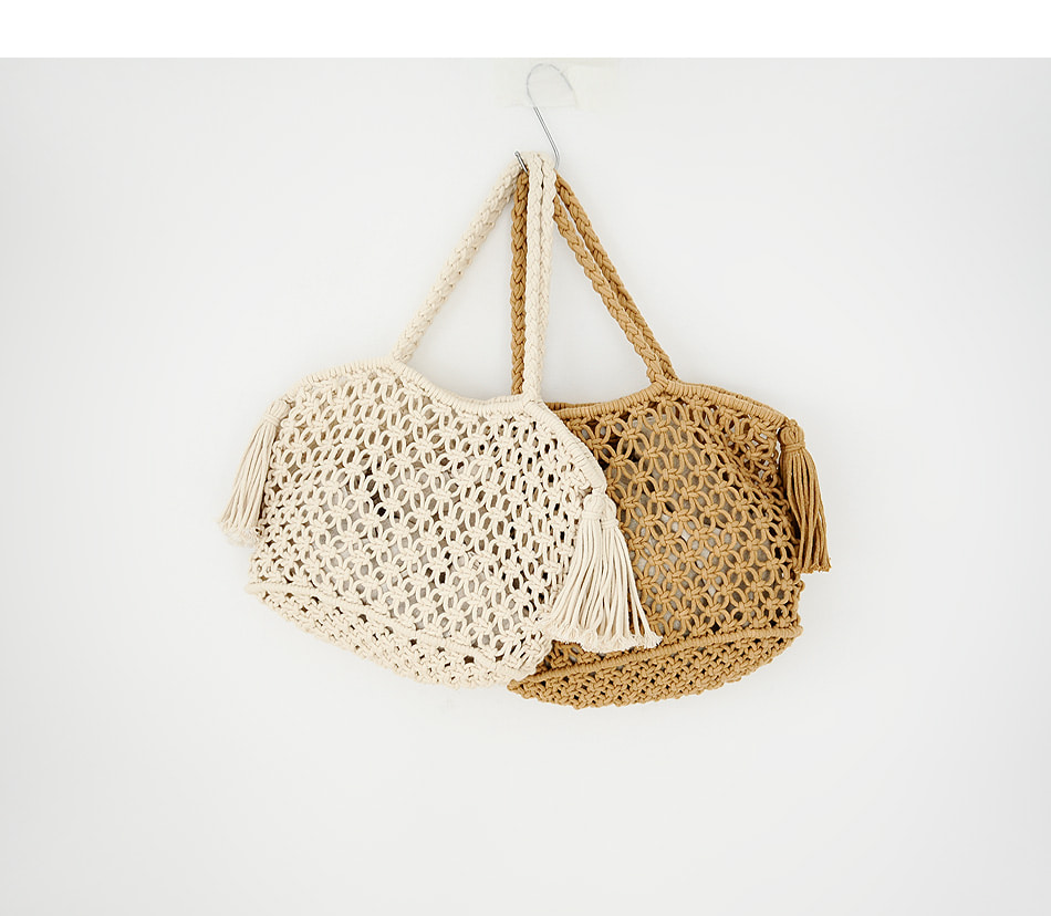 Wedge Knit Net Net Bag