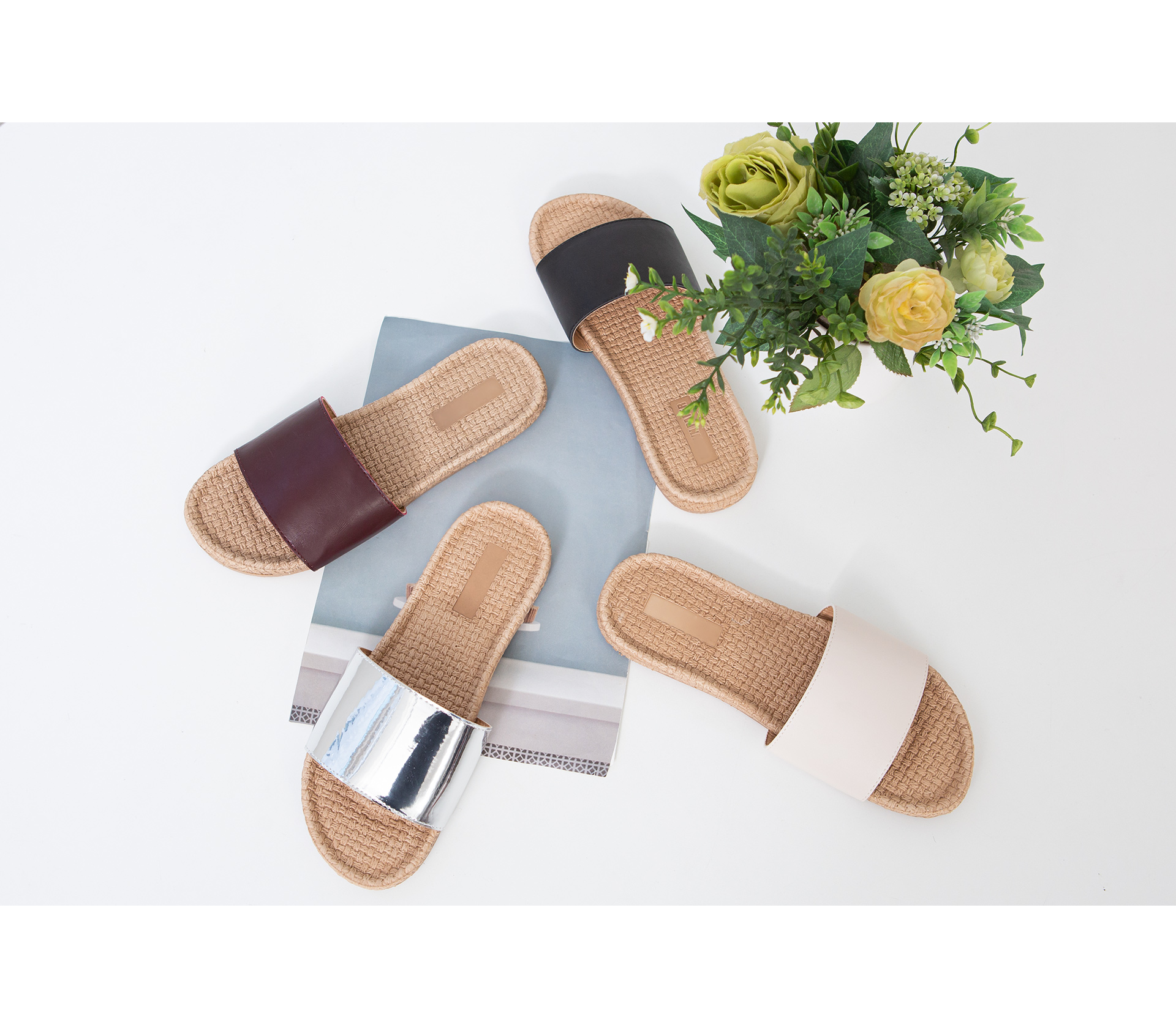Summer Square Slippers #86216