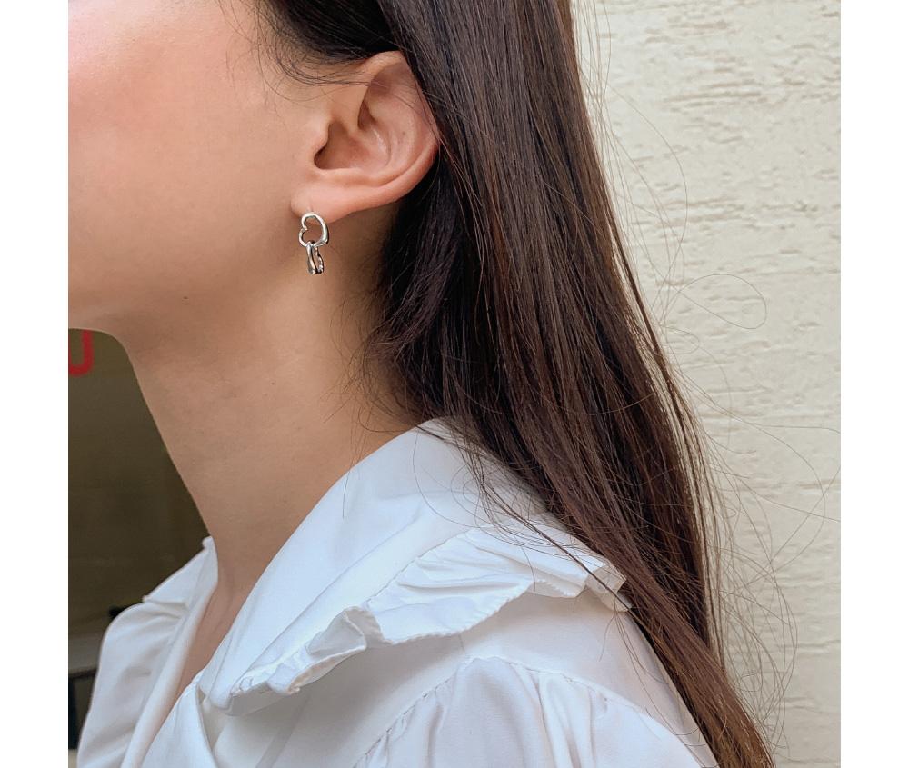 lovely drop heart earring