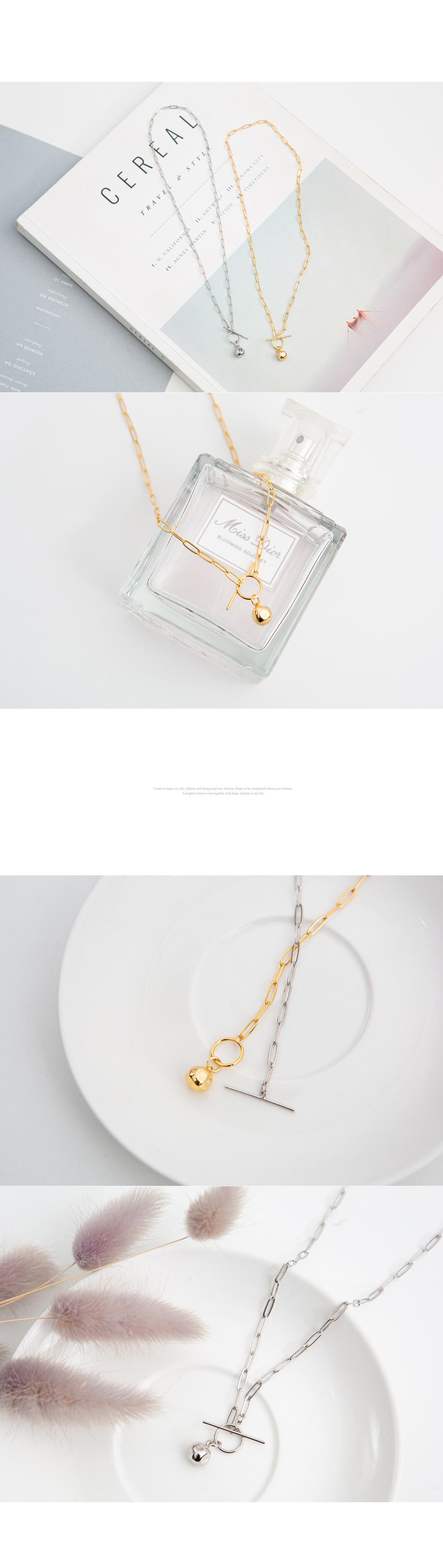 Ball square chain necklace #86123