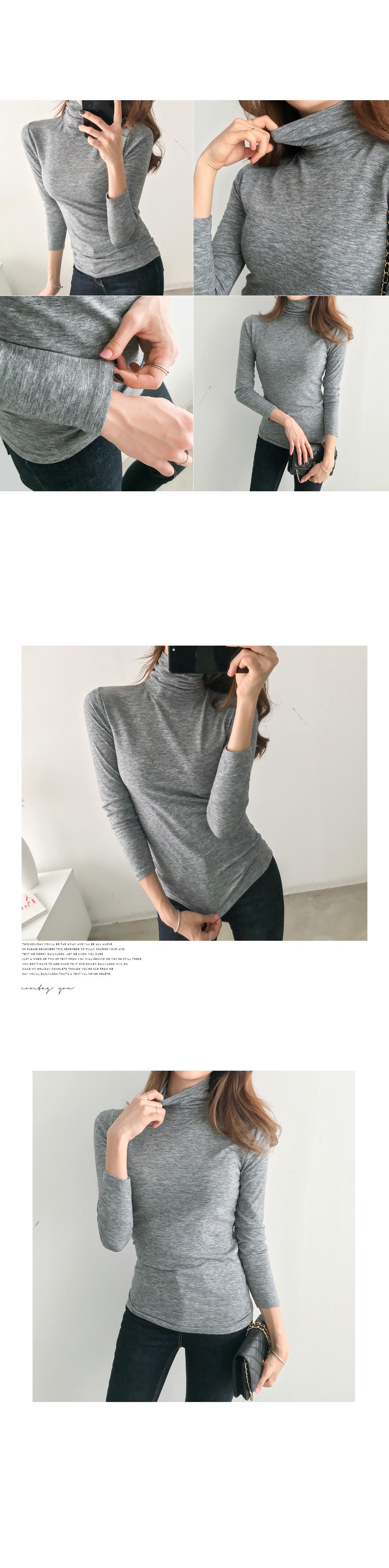 Turtleneck Basic Knitwear T-shirt #106289