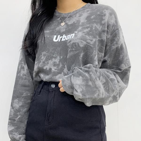 Urban tie-dye cropped sweatshirt 長袖上衣