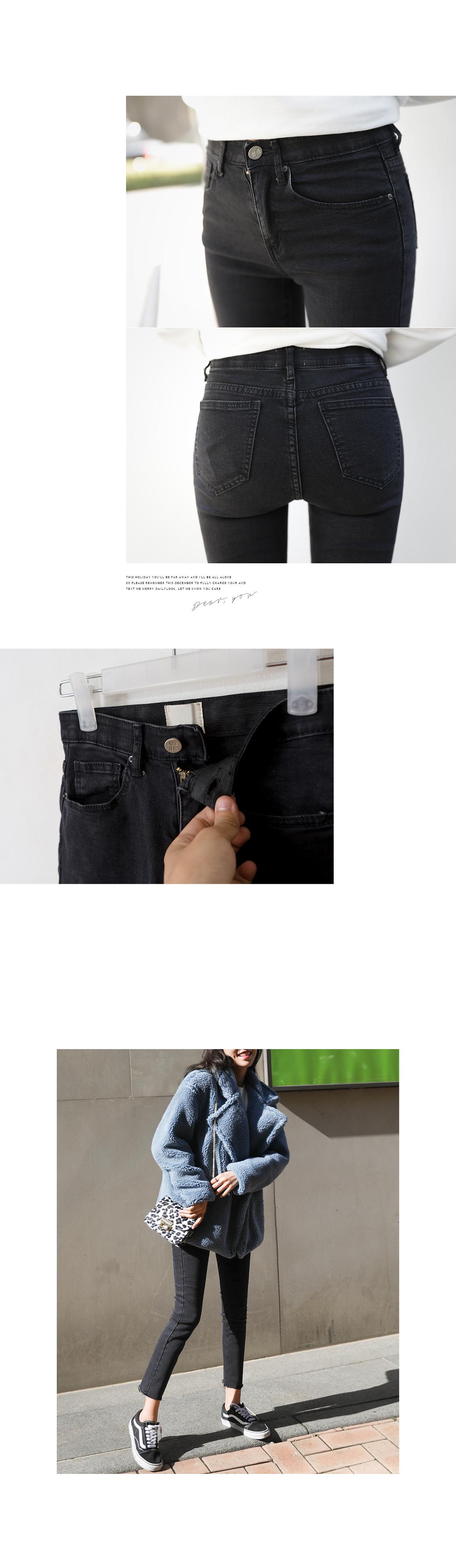 Beautiful fit slim line Fleece-lined banding pants #75004