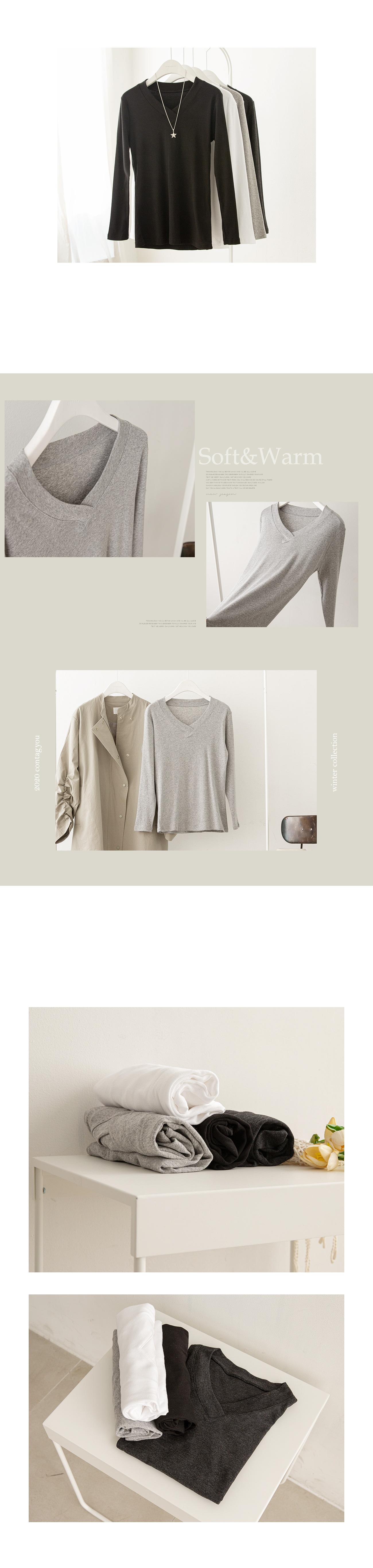 Clean Simple V Neck T-Shirt #19663