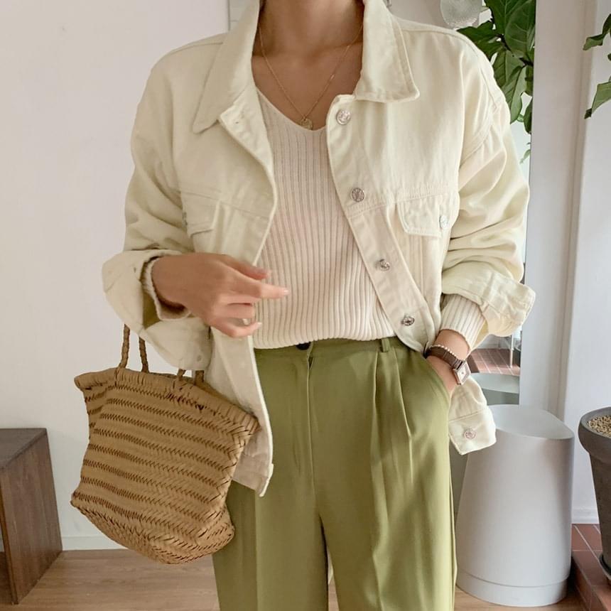 Kiki Basic Cotton Denim Jacket 夾克外套