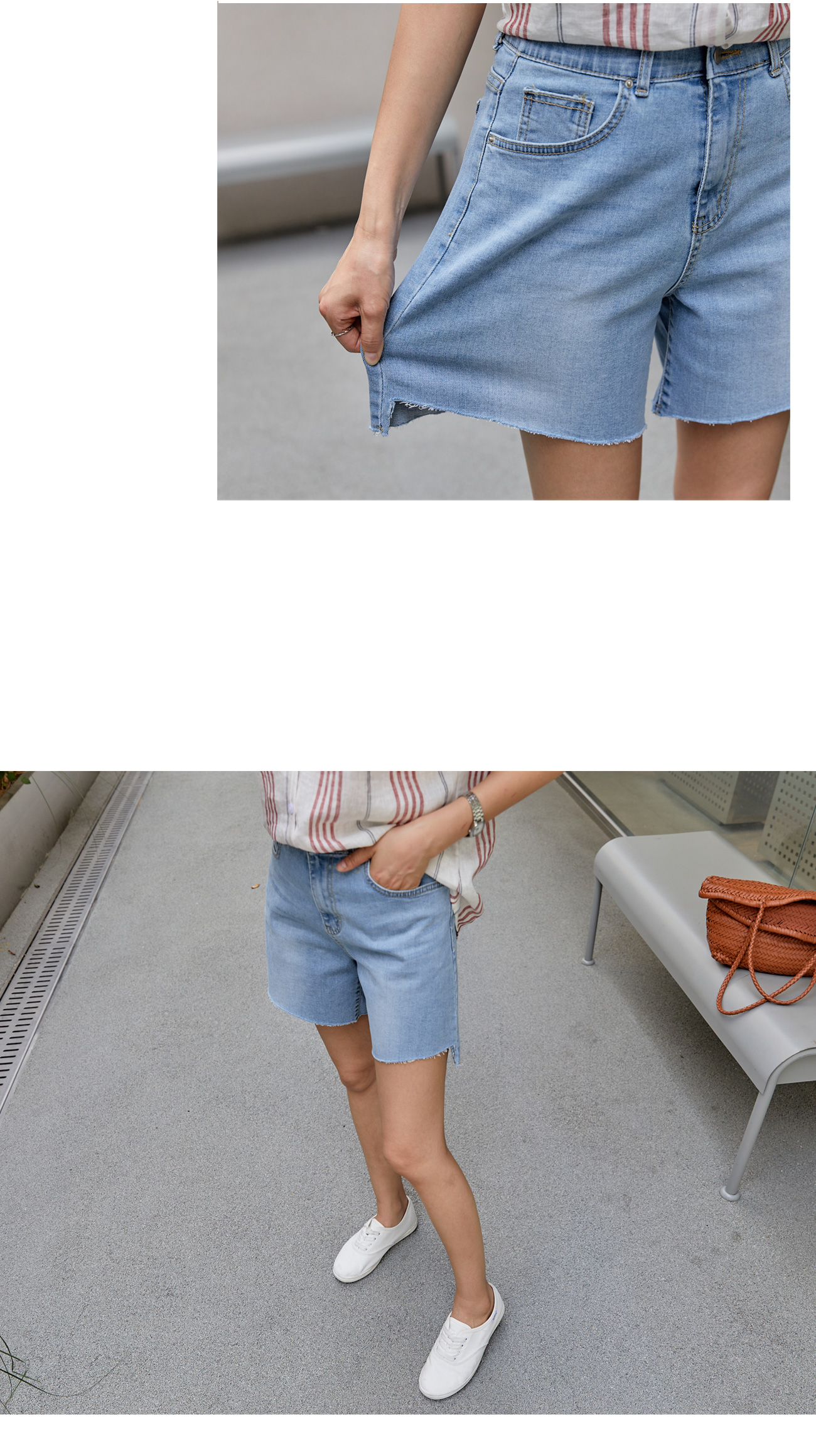 Uncut Cut Light Blue Shorts #75820