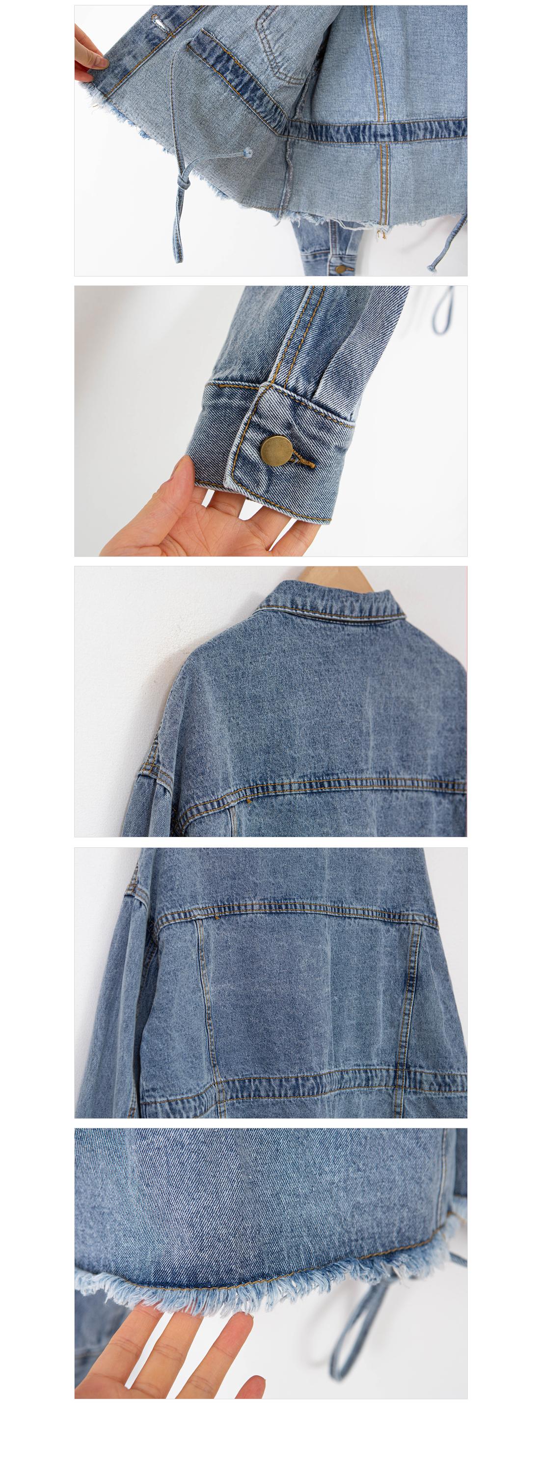 Vintage cropped denim jacket #65800