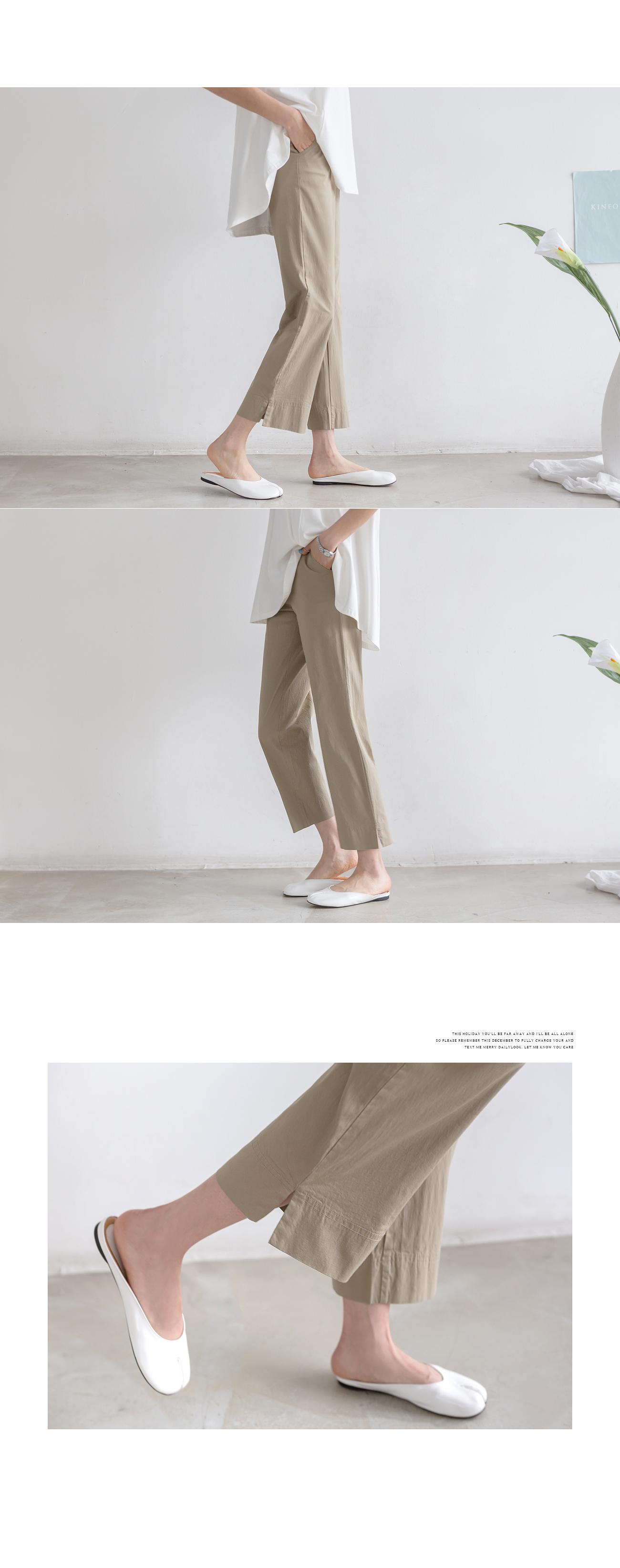 Light Slack Fit Back Bending Pants #75253