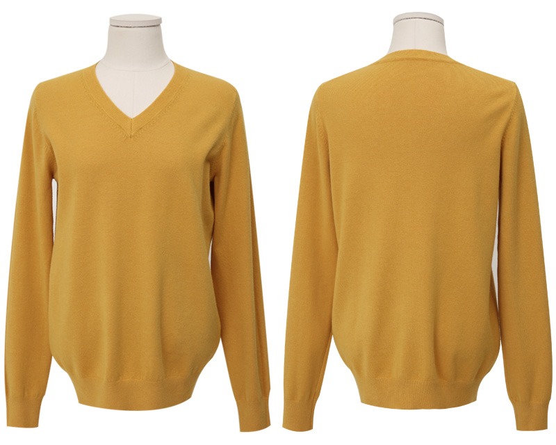 Even wool v-neck knit_Y (size : free)