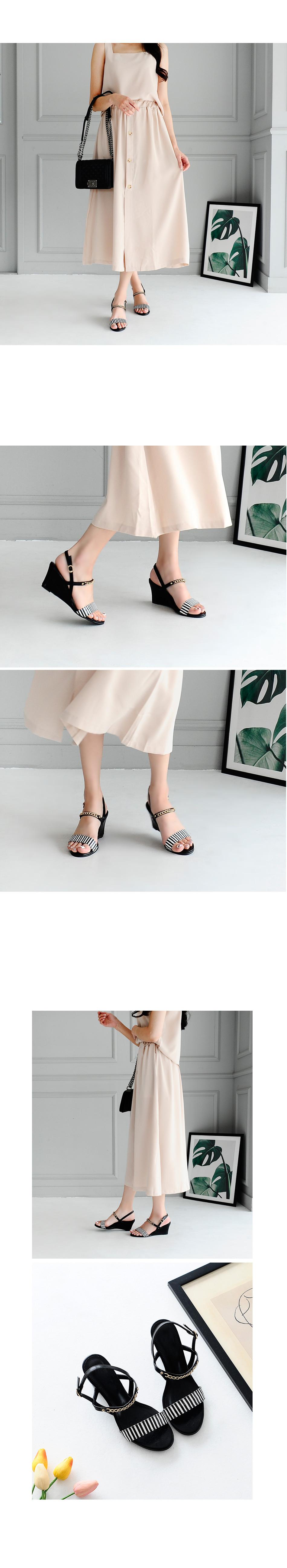 Beelton Wedge Slingback Sandals 7cm