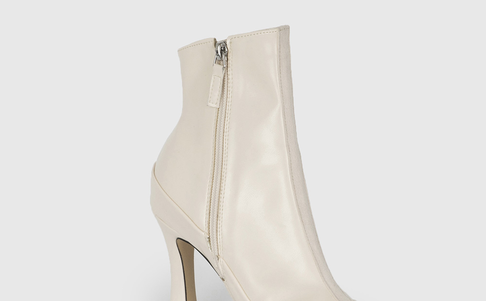 Center suede high heel ankle boots