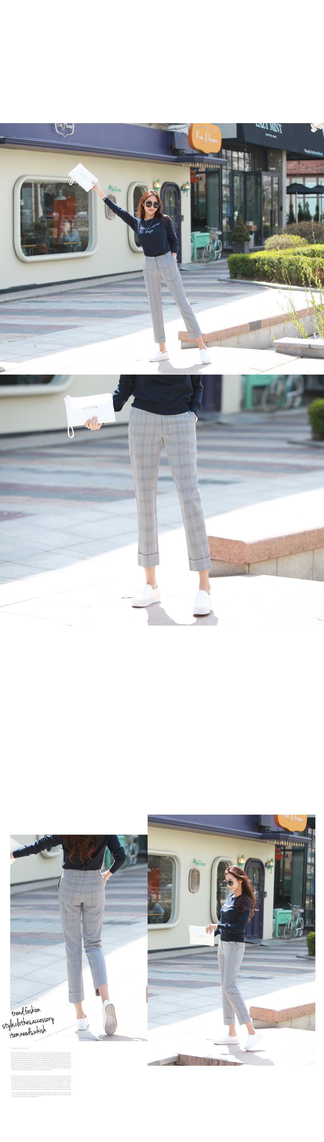 Biplen Classic Check Pattern Slacks Pants #73565